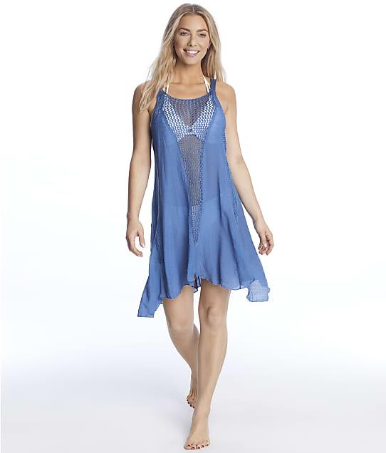 Elan Crochet Cover-Up in Blue CR5145