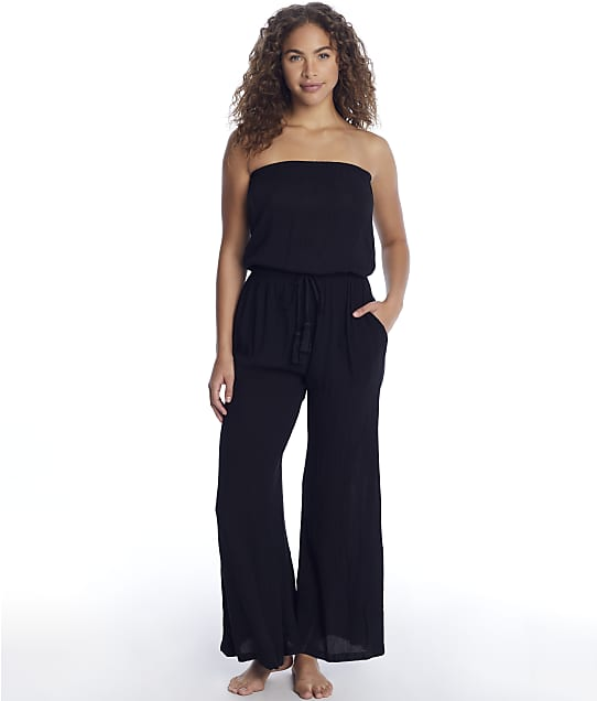Elan: Strapless Jumpsuit Cover-Up
