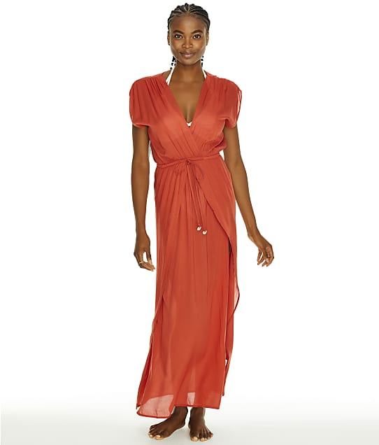 Elan Maxi Cover-Up in Auburn(Front Views) RY5014