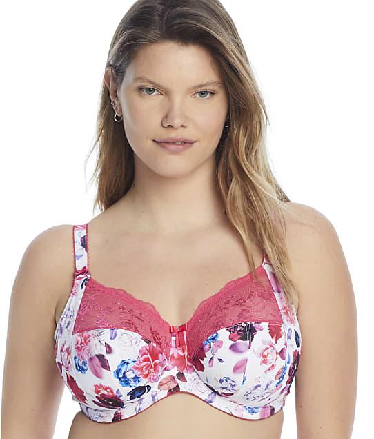 Elomi Morgan Side Support Bra in Pink Floral(Front Views) EL4110