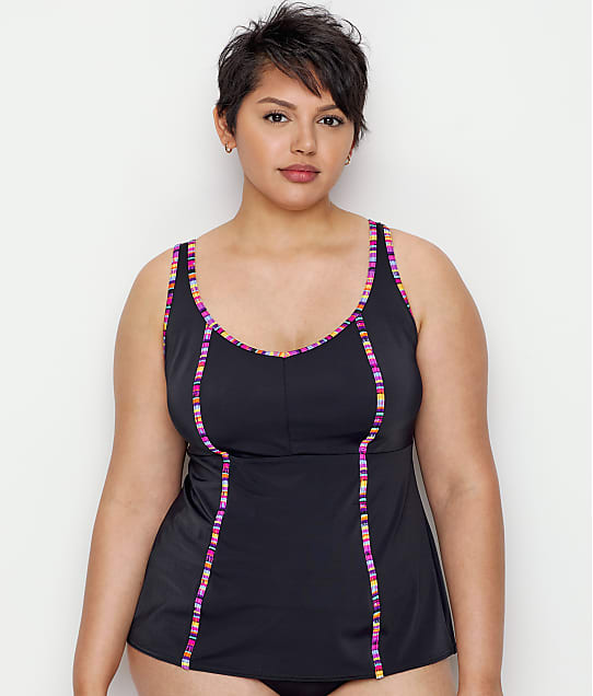 Elomi: Plus Size Nomad Wire-Free Tankini Top
