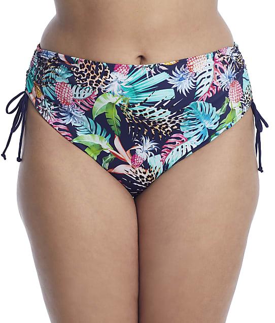Elomi Plus Size Pina Colada Side Tie Bikini Botton in Midnight ES7265