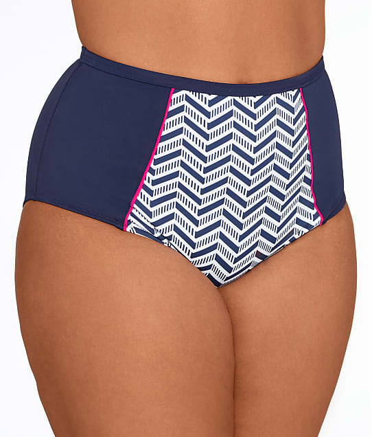 Elomi: Plus Size Chevron Classic Brief
