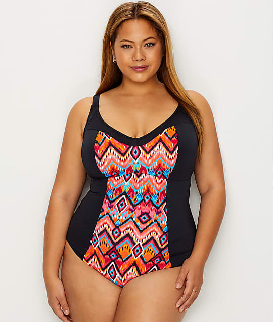 Elomi: Plus Size Tribe Vibe One-Piece