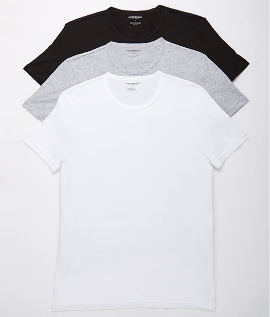 Emporio Armani: Pure Cotton Crew Neck T-Shirt 3-Pack