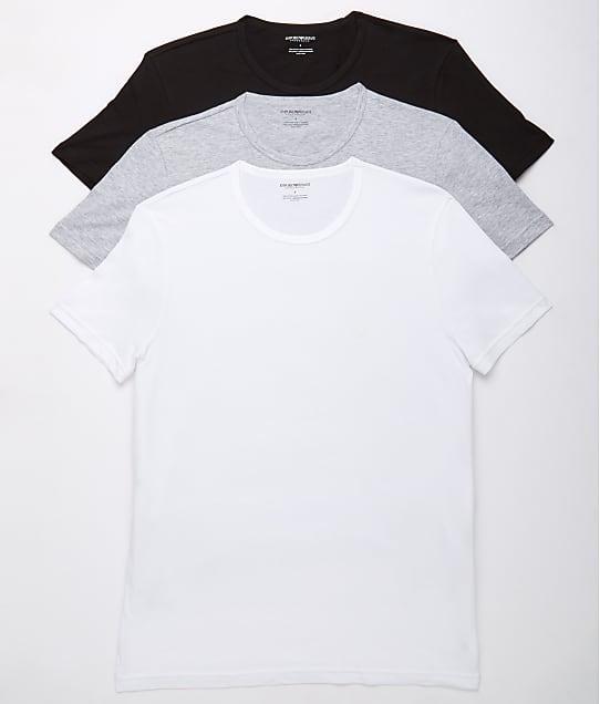 Emporio Armani: Pure Cotton Crew Neck T-Shirt 3-Pack