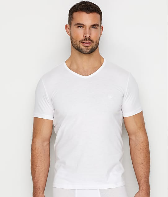 Emporio Armani: Pure Cotton V-Neck T-Shirt 3-Pack