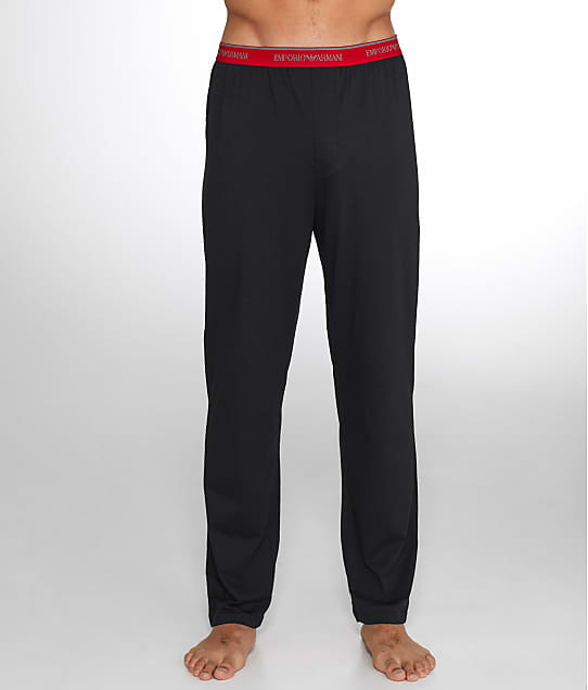 Emporio Armani: Classic Stretch Cotton Logo Lounge Pants