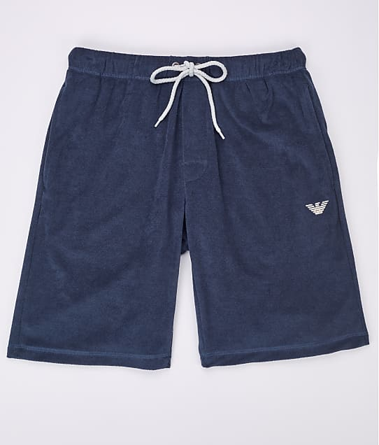 Emporio Armani: French Terry Sail Lounge Shorts