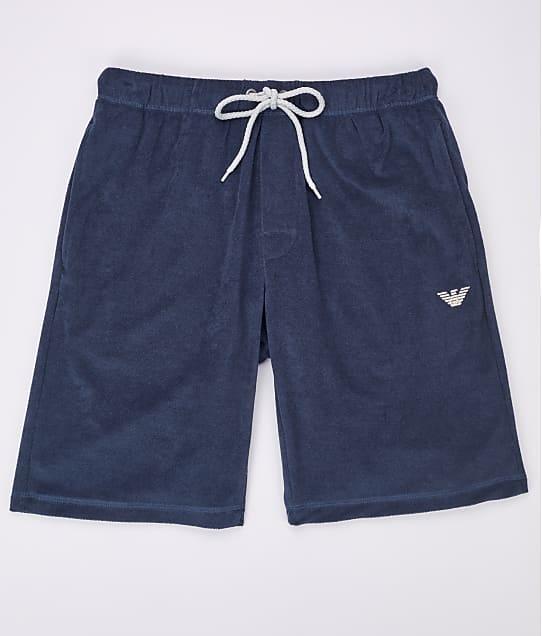 Emporio Armani: French Terry Sail Lounge Shorts