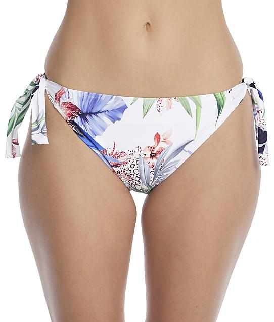 Fantasie Santa Catalina Side Tie Bikini Bottom in Blue Depths(Front Views) FS500075