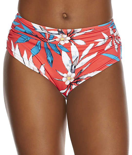 Fantasie Santos Beach Deep Gather Bikini Bottom in Pomegranate(Front Views) FS501171