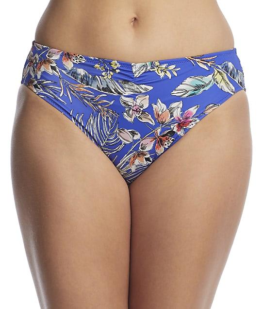 Fantasie Burano Gather Mid Rise Bikini Bottom in Pacific(Front Views) FS7025