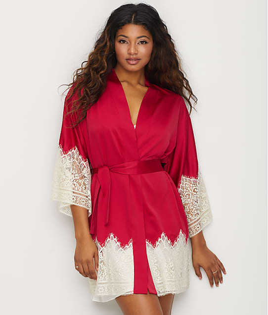 Flora Nikrooz: Genevive Charmeuse Kimono Robe