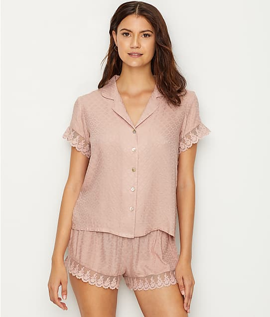 Flora Nikrooz: Laurel Jacquard Woven Pajama Set