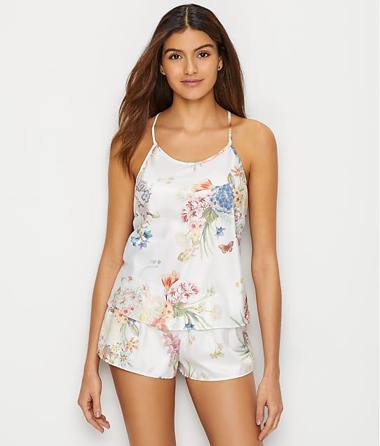 Flora Nikrooz Petra Charmeuse Cami Pajama Set in Ivory Q80778