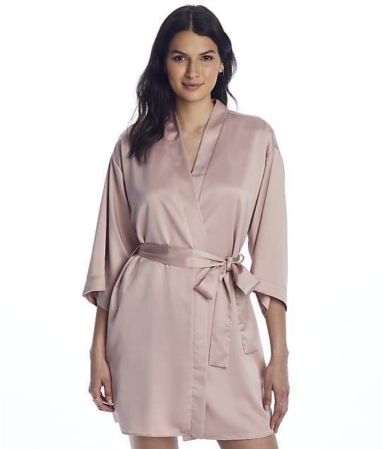Flora Nikrooz Victoria Charmeuse Wrap Robe in Smokey Rose Q80898