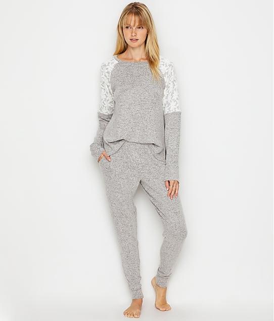 Flora Nikrooz Genna Cozy Knit Pajama Set in Heather Grey Q80916