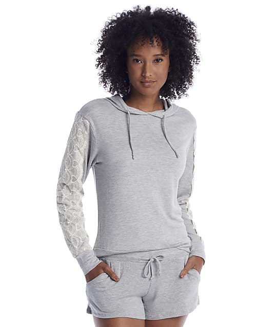 Flora Nikrooz: Heather Grey Knit Hoodie Pajama Set