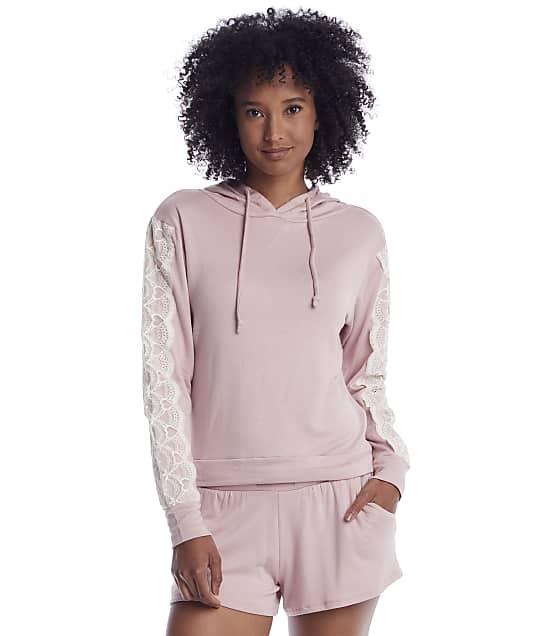 Flora Nikrooz: Shell Pink Knit Hoodie Pajama Set