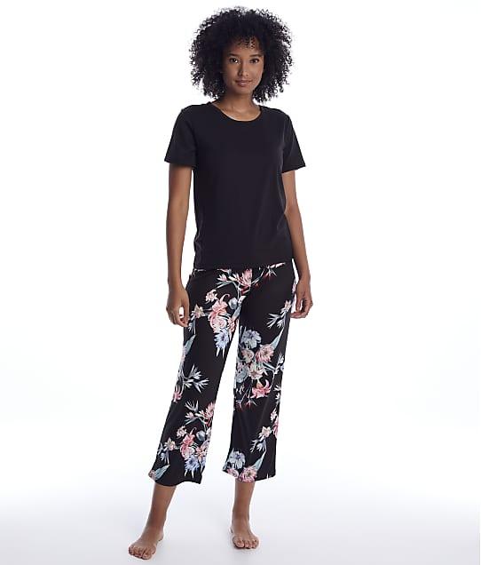 Flora Nikrooz: Floral Knit Cropped Pajama Set