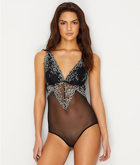 Ava Cross Dye Lace Bodysuit by Flora By Flora Nikrooz
