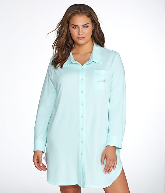 Flora by Flora Nikrooz: Plus Size Tulla Knit Bride Sleep Shirt
