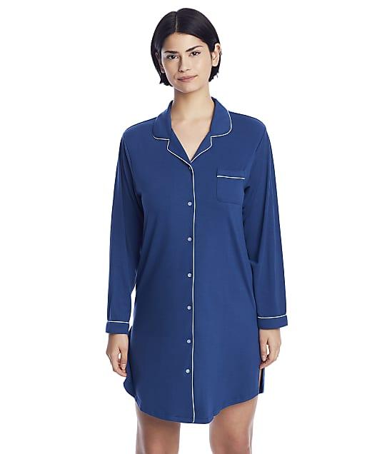 Flora Nikrooz Annie Knit Sleep Shirt in Navy T90418