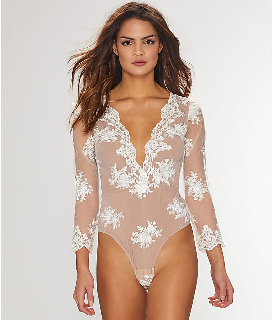 For Love & Lemons: Amber Embroidered Bodysuit