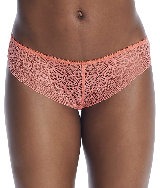 Freya Erin Lace Brazilian Panty in Hot Coral(Front Views) AA3238