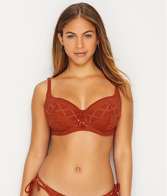 Freya Sundance Sweetheart Bikini Top in Burnt Orange(Front Views) AS3970