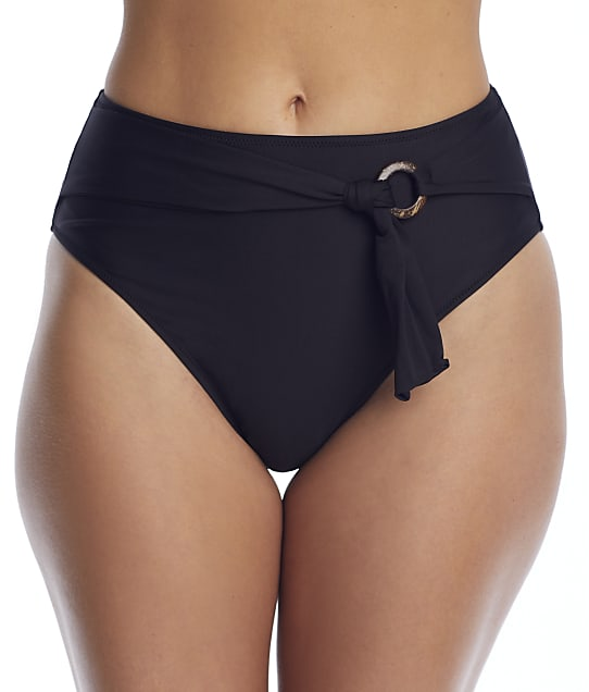 Freya Coco Wave High-Waist Bikini Bottom in Black(Front Views) AS7005