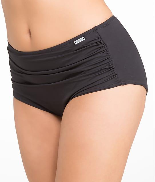 Fantasie Versailles Gathered Control Bikini Bottom in Black(Back Views, black) FS5753