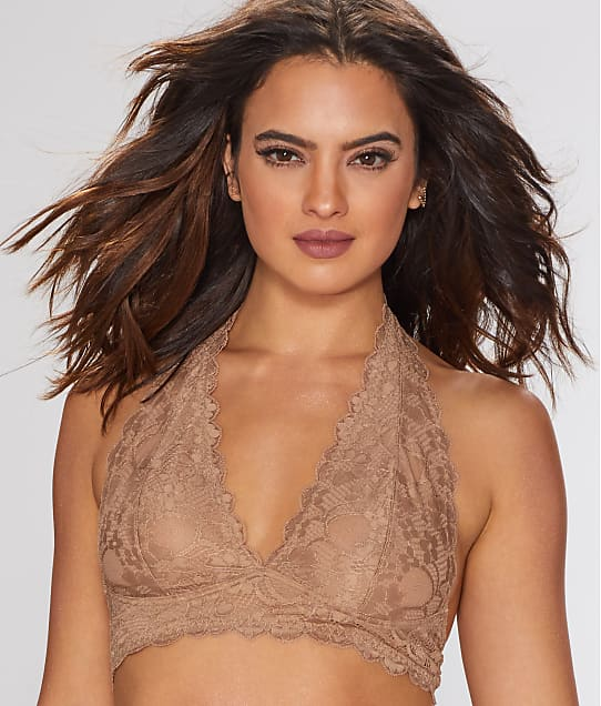 Free People: Galloon Lace Halter Bralette
