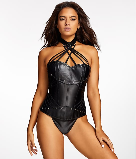 3dcd42af8 Frederick s of Hollywood Ramona Faux Leather Corset Set