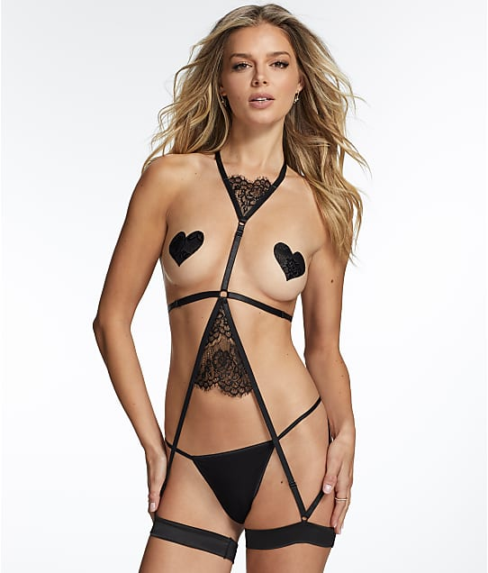 Frederick's of Hollywood: Mya Scallop Lace Garter Harness
