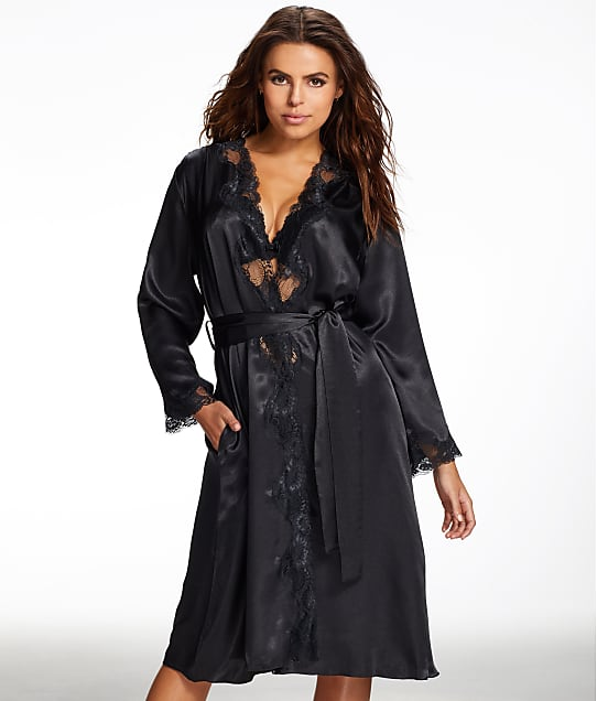Frederick's of Hollywood: Nicole Satin And Lace Robe