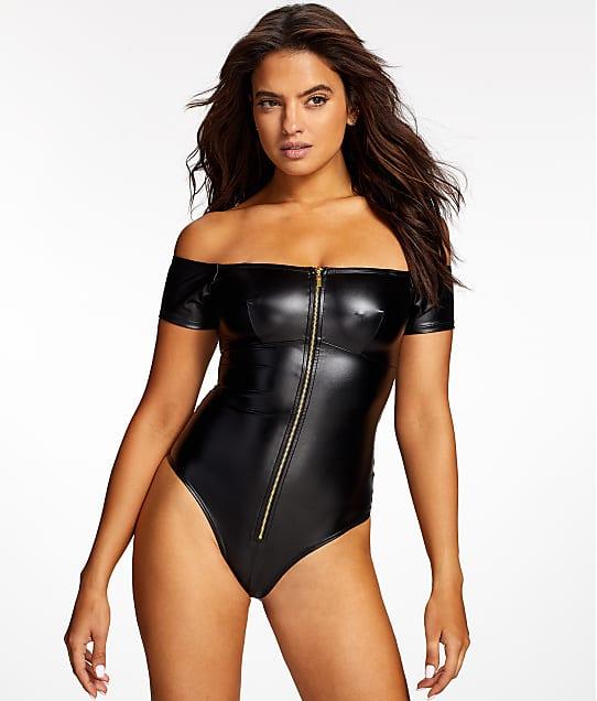 48e9449fc8 Frederick s of Hollywood Regan Faux Leather Bodysuit