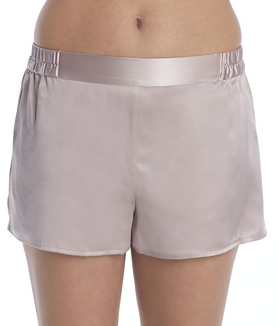 Ginia Silk Sleep Shorts in Shadow Grey GFF102