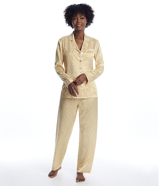 Ginia: Serpentine Silk Pajama Set