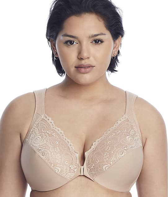 Glamorise Wonderwire Front-Close Bra in Cafe(Front Views) 1245