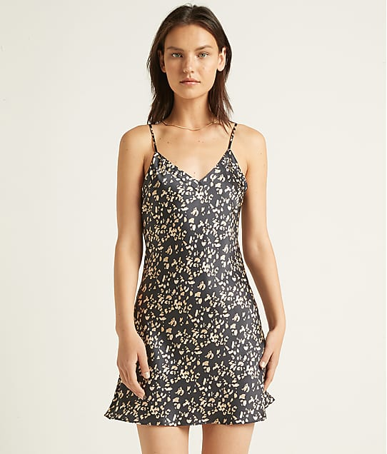 Ginia: Leopard Silk Short Chemise