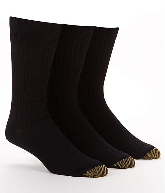 Gold Toe: Canterbury Dress Socks 3-Pack Extended Sizes