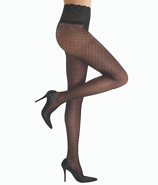 Commando: Chic Dot Sheer Pantyhose