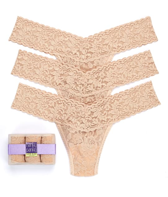 Hanky Panky: Signature Lace Low Rise Thong 3-Pack