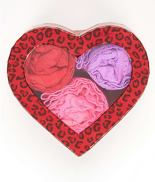 Hanky Panky: V-Day Collection Low Rise Thong 3-Pack