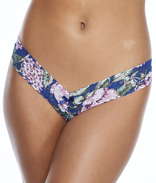 Hanky Panky Florentina Crotchless Low Rise Thong in Multi(Front Views) 5Q1004