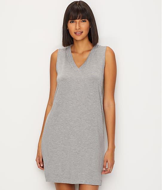 Hanro Champagne Knit Tank Gown in Grey Melange 76473