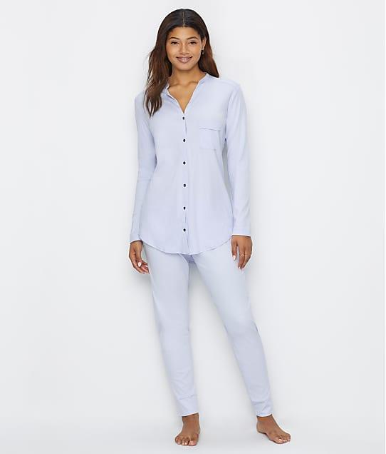 Hanro Pure Essence Knit Pajama Set in Blue Glow 077949