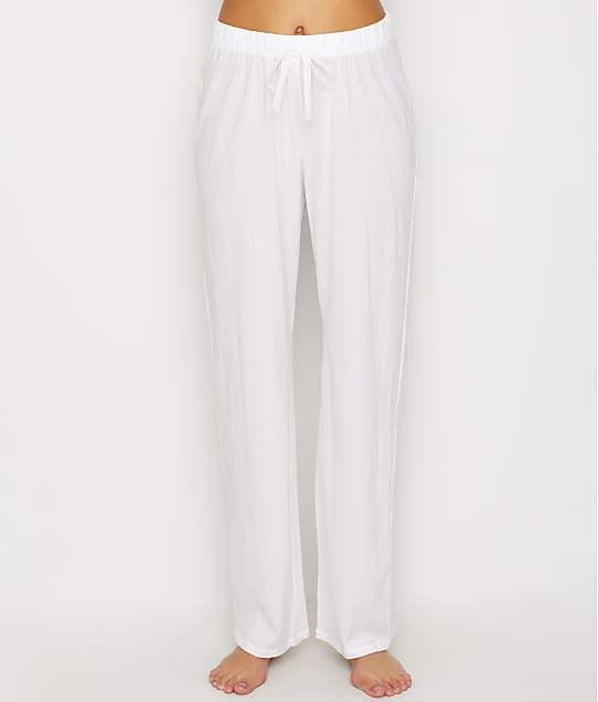 Hanro Cotton Deluxe Lounge Pants in White 77955